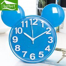 2016 Modern Creative Fashion Mickey Mouse Mute Snooze Digital Alarm Clock Desk Bedroom 5 Color for kids New years gift