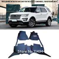 For Ford Explorer 7 Seats 2016 2017 Interior Durable Special Waterproof Custom Car Floor Mats Front