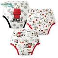3 Unids/lote Bragas Orinal Bebé Lavables Reutilizables Pantalones de Entrenamiento Bebé Impermeables Reutilizables Pañales de Algodón Calzoncillos Pantalones