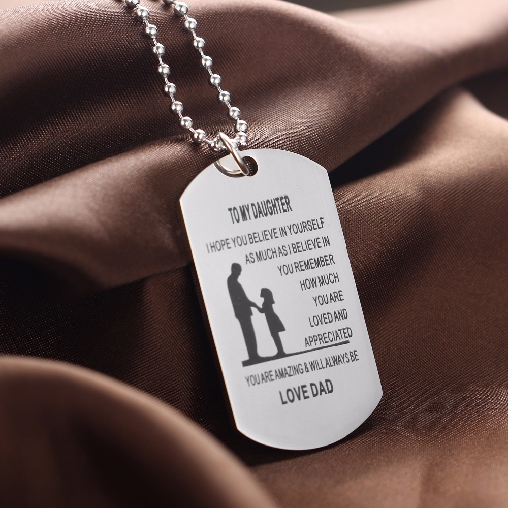 Bespmosp family love dad believe in yourself to daughter pendant bespmosp family love dad believe in yourself to daughter pendant necklace dog tag inspiration collar women charm chain jewelry in chain necklaces from solutioingenieria Image collections