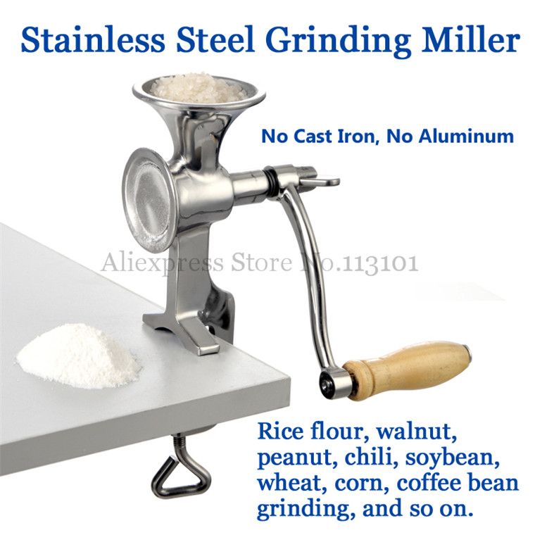 Grinding Miller Machine Grinder Pulverizer for Freshly Brewed Coffee Durable Stainless Steel High Quality rimei 3013 handy durable stainless steel nailclippers w grinding pad silver