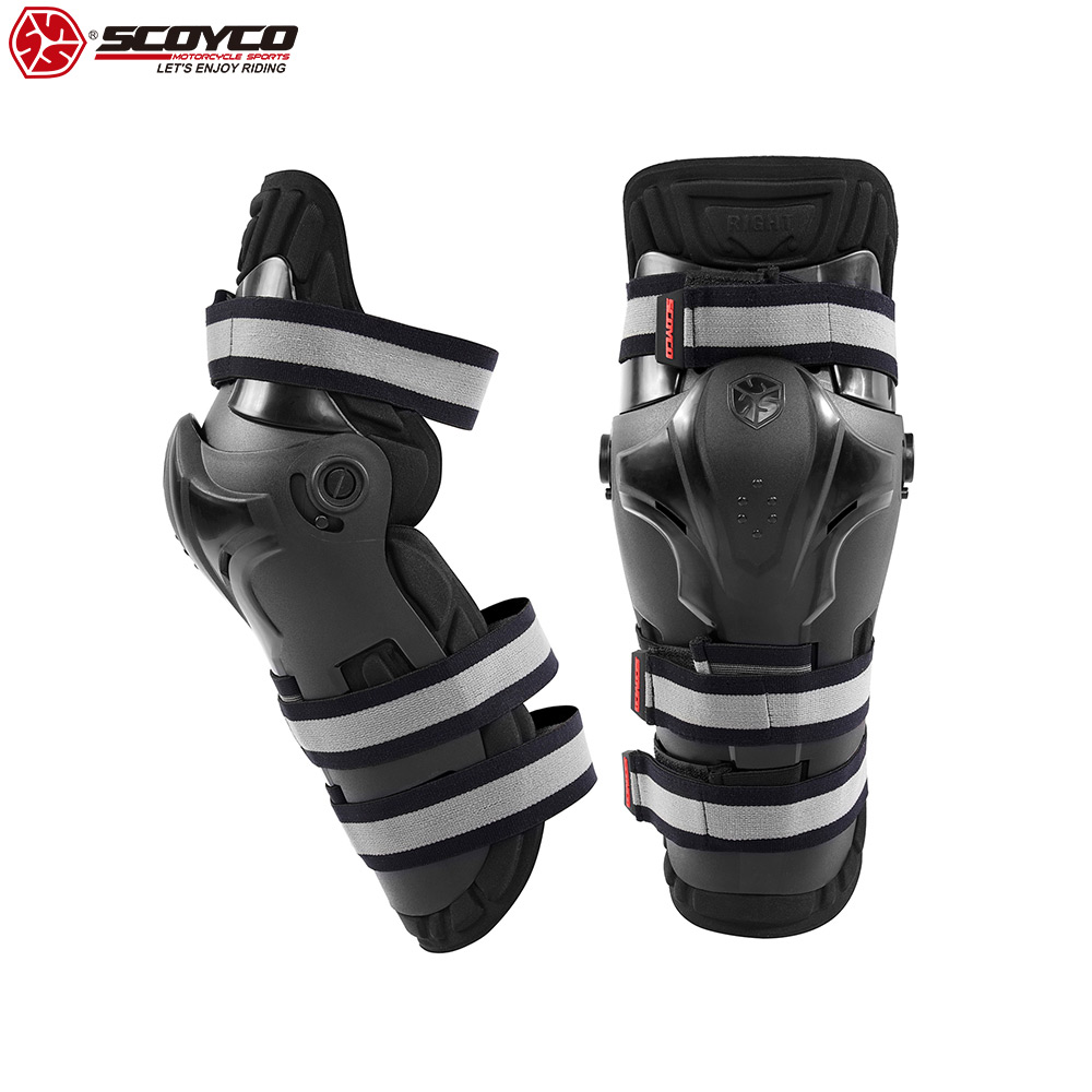 SCOYCO 21 Rotatable Shockproof Knee Guard Windproof Winter CE Certificated Shell Adjustable Smart Bionic Motorcycle Knee Guards