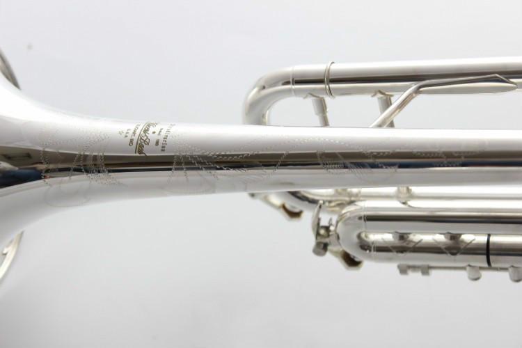 Bach AB 190S Латунь Bb труба высокого качества Посеребренные профессиональные музыкальные инструменты с футляром аксессуары - 3