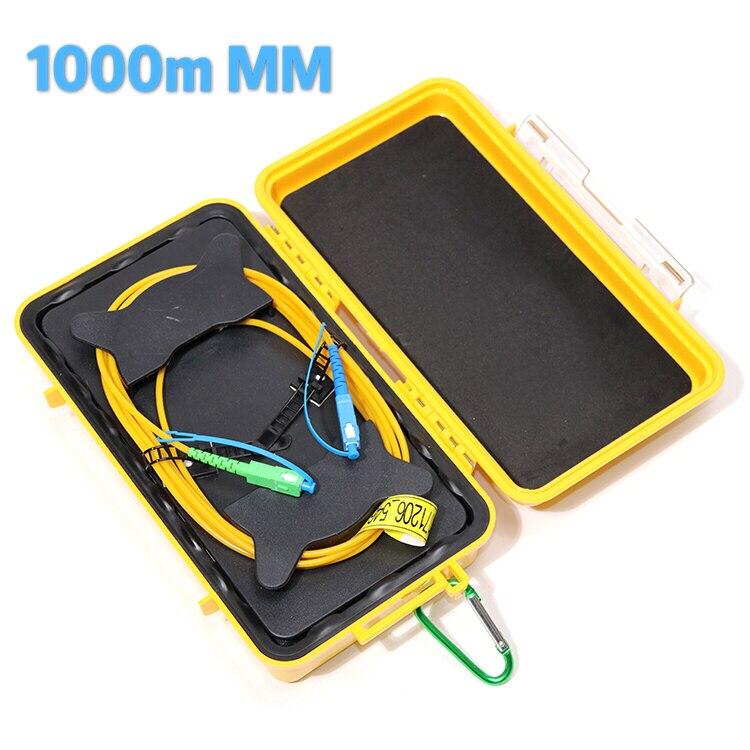 Komshine 1 км мультимодовый волоконно оптический OTDR Launch Cable Box/оптоволоконные кольца/OTDR Dead Zone Eliminator, мульти разъемы для выбора