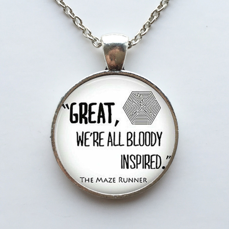 Glass Dome The Maze Runner Pendant Necklace