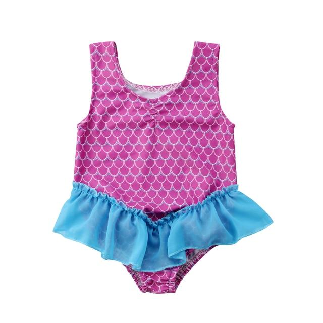Lovely Mermaid Swimsuit Cute Girls Bikini Newborn Toddler Baby Girl