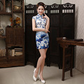 Women Silm Cheongsam Dress Traditional Chinese Dress Short Elegance Qipao Dress Oriental Chinese Qipao Dress for Party 18