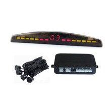 Coche LED Display Parking Sensor Kit Multi-Color 4 Sensores Radar de Reserva Reverso Del Sistema Para La Mayoría de Los Coches