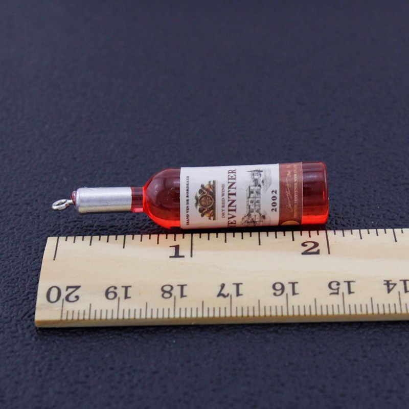 TAFREE FAI DA TE di Simulazione Bottiglia di Vino Ciondola Gli Orecchini per le donne Freddo Rosso, Giallo, Blu Vino Orecchini a pendaglio del Commercio All'ingrosso Dei Monili