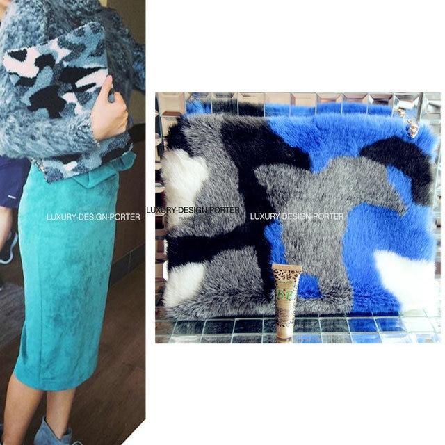 Designer Trendy Multi style Faux Fur women clutch hand bag Purse Celebrity love Free shipping