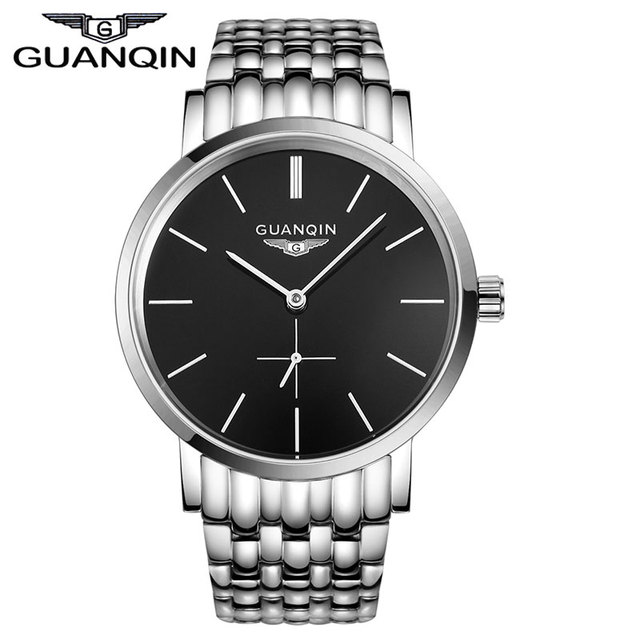 Top Luxury Brand GUANQIN Vintage Analog Watches Fashion&Casual Leather Strap Men Watches Automatic With Small Second Dial