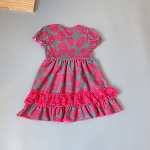 Image 4 - Grey, rose red,lotus girls dress Outfits Infants and Children dresses  soft Ruffle flower frocks for kids kids boutique clothing