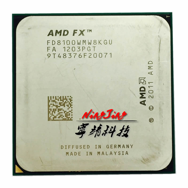 AMD FX Series FX 8100 2 8 GHz Eight Core CPU Processor FD8100WMW8KGU Socket AM3