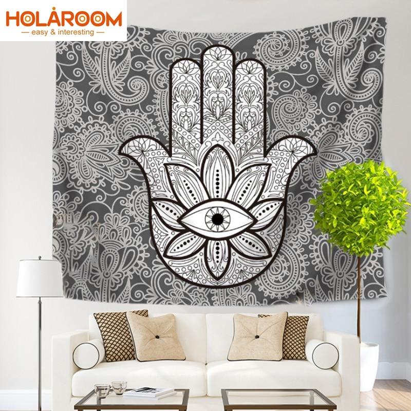Art Abstract Palm Tapestry Wall Hanging Indian Mandala
