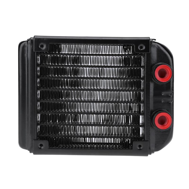 все цены на 120mm 18 Tubes G4/1 Water Cooling Radiator for Computer Chip CPU GPU VGA RAM Laser Cooling Cooler Aluminum Heat Exchanger онлайн