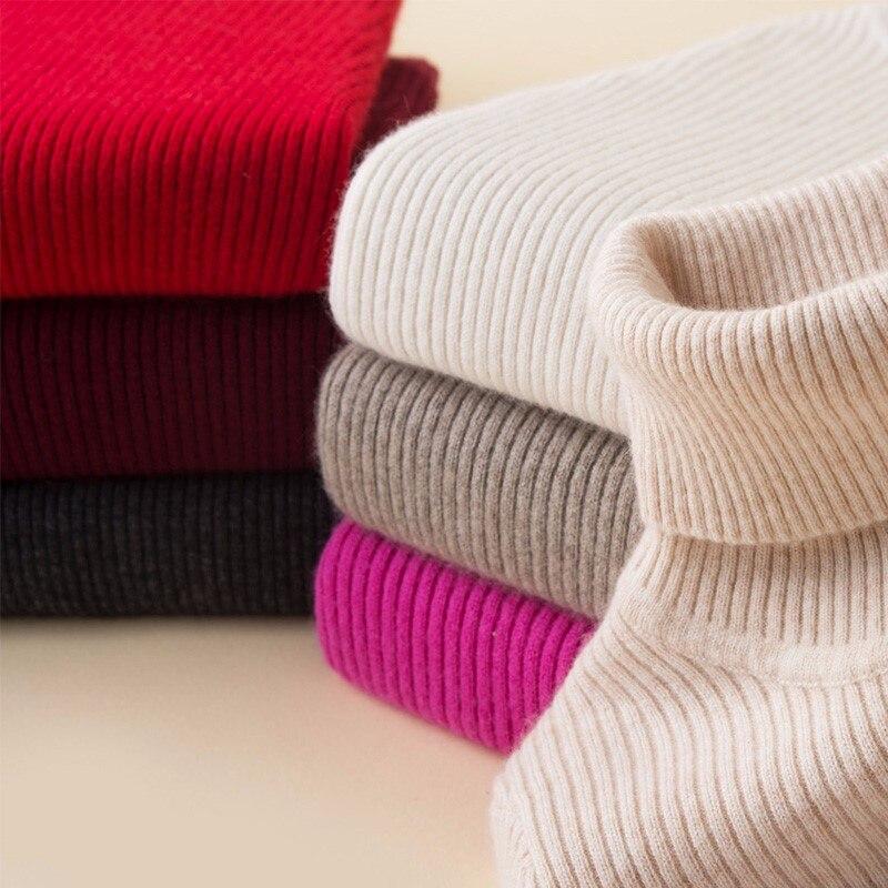 100% QualitäT Kaschmir Pullover Frauen Rollkragen Pullover Damen Pullover Hemd Heißer Verkauf Wolle Gestrickte Pullover Weibliche Warme Tops Verkauf Kleidung