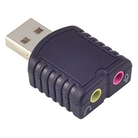 USB Sound Card Adapter External Stereo For Windows And Mac PC Desktop Free Drive