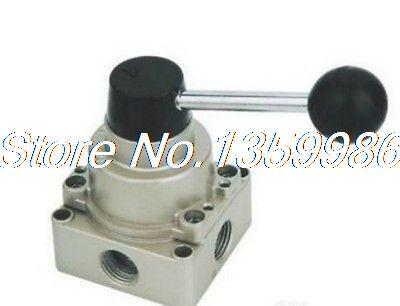1pcs HV-03 4 way 3 position 3/8 BSPT Hand Operated Lever Air Valve Hand Return 5 port 2 position 3 8 bspt hand operated air valve hand return manual control 4r310 10
