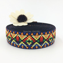 2016 NEW wholesale 30mm Wide Geometric Restoring Ancient Woven Jacquard Ribbon Dog Chain Accessories 10yards/lot