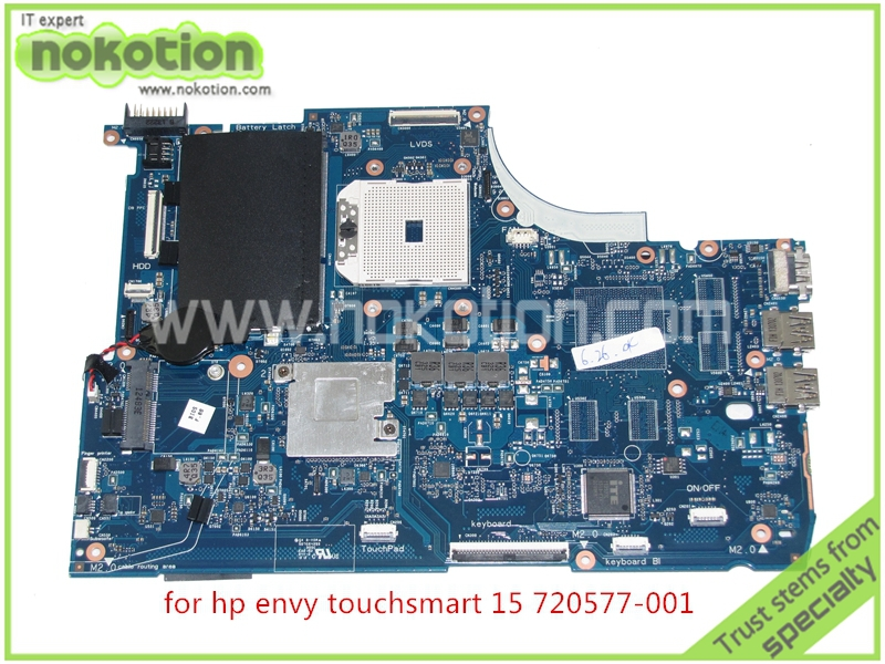 NOKOTION 720577-001 720577-501 Laptop Motherboard For HP Envy Touchsmart 15 15-J 15-J009WM 15-J073CL 15-J013 Mainboard laptop keyboard for hp for envy 15 ae054na 15 ae058na 15 ae060nz 15 ae061nz 15 ae065na france fr 812692 051