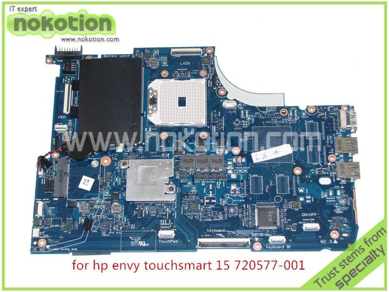 NOKOTION 720577-001 720577-501 Laptop Motherboard For HP Envy Touchsmart 15 15-J 15-J009WM 15-J073CL 15-J013 Mainboard