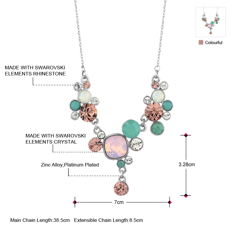 Neoglory MADE WITH SWAROVSKI ELEMENTS Crystal   Rhinestone Jewelry Set  Colorful Trendy Style Necklace   Earrings Wholesale Gift-in Jewelry Sets  from Jewelry ... 353de80ba606
