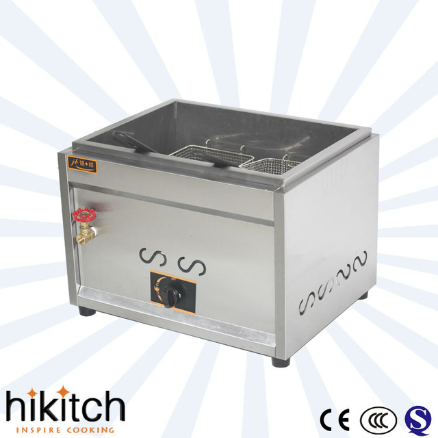 Restaurant kitchen equipment commercial 17L 1 tank 2 baskets gas ...