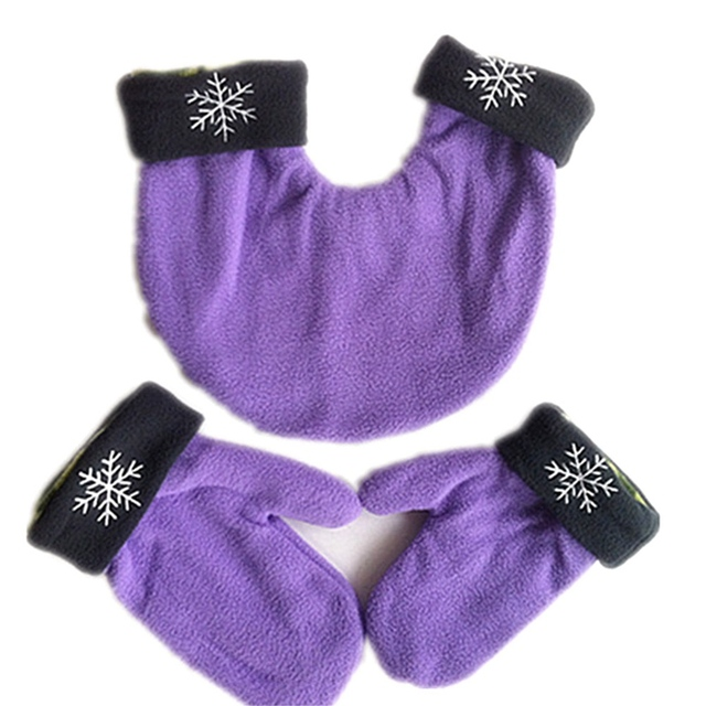 Winter Warm 3pcs/set Couple Gloves Polar Fleece LoversThicken Glove 3 Color Sweethearts Christmas Gift Romantic Couples Mittens
