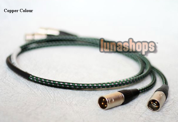 1m Copper Colour CC Fond XLR Speaker Cable + 1.8s Alloy