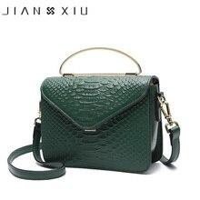 JIANXIU Genuine Leather Handbag Metal Portable Design Women Shoulder Crossbody Bags Fashion Crocodile Pattern New Small Tote Bag