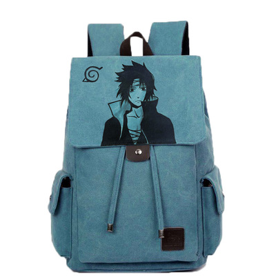 Anime Naruto Cosplay Student bag college wind shoulder bag men and women backpack graffiti canvas bag anime tokyo ghoul cosplay anime shoulder bag male and female middle school student travel leisure backpack