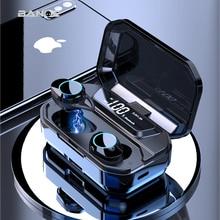 BANDE TWS 3300mAh di Ricarica HA CONDOTTO LA Scatola di Display Digitale Dello Schermo Auricolari Bluetooth 5.0 Auricolare 3D Stereo Senza Fili del Trasduttore Auricolare