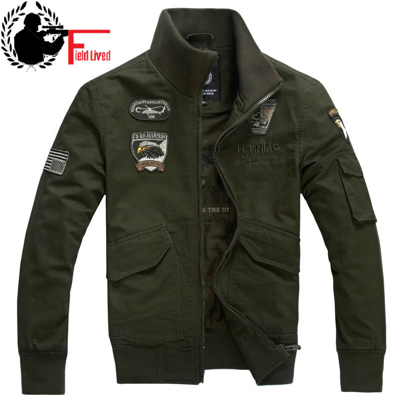 Men's clothing 2021 spring male military jacket male tactical Army Green black khaki militar cotton-padded coat army jacket 4XL
