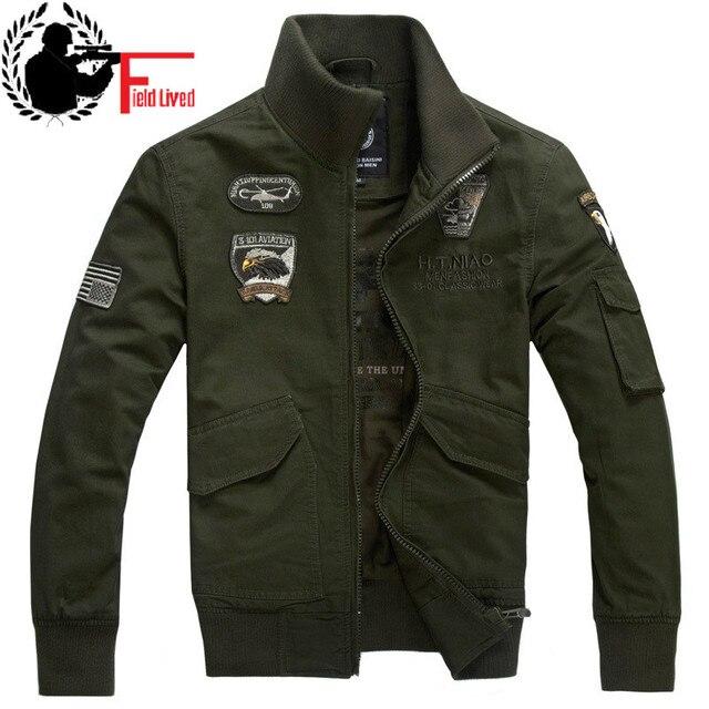 44794a7d4336 Odzież męska 2019 wiosna mężczyzna kurtka wojskowa męskie taktyczne armii  zielony czarny khaki militar bawełny płaszcz