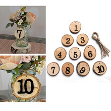 Seat Board Table Number Card Rustic Wedding Birthday 1-10 10pcs Beautiful Creative Banquet