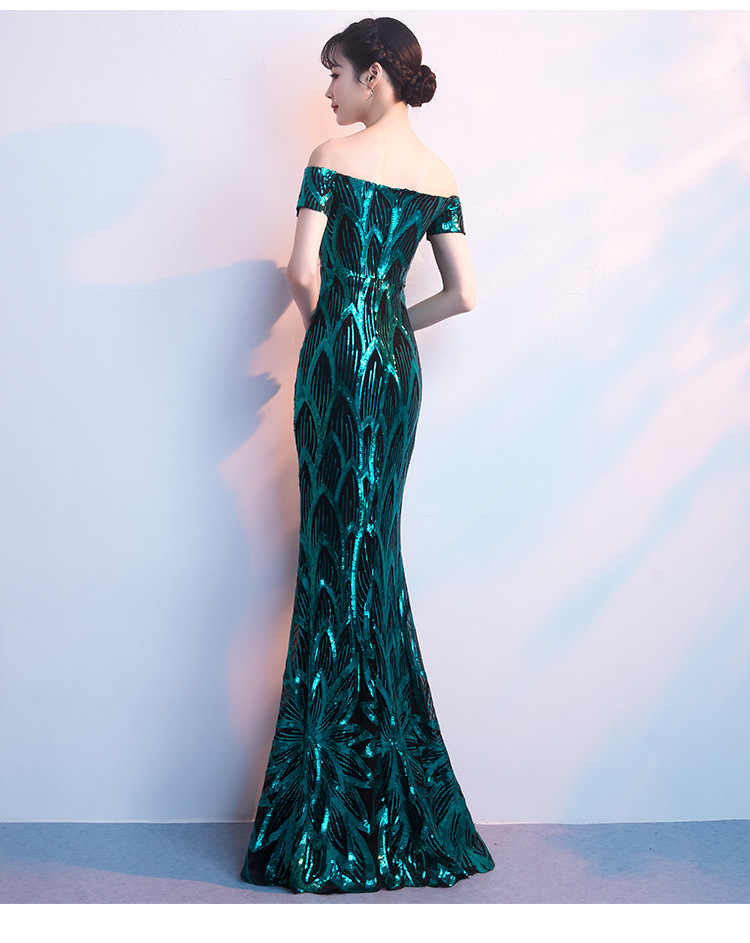 ... Sequin Mermaid Evening Dresses Sexy V neck Sleeveless Color Fade  Sparkly Mermaid Dress Formal Prom Party ... b7e1d6b8f519
