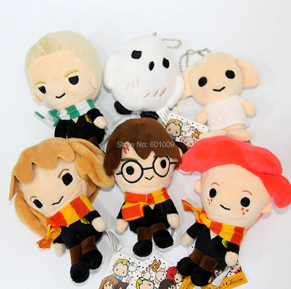 10-14CM Hedwig Hermione Dobby Malfoy Ron Plush Doll Pendant Gift Animation Collection For Kids ZYTJ