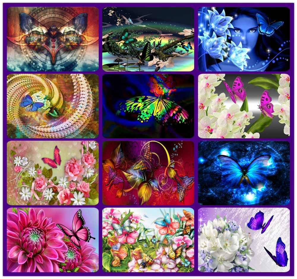 Diamond Painting animal butterfly flower Diy Full Square Daimond Painting Painting Diamond for Living Room Decor Wall Art