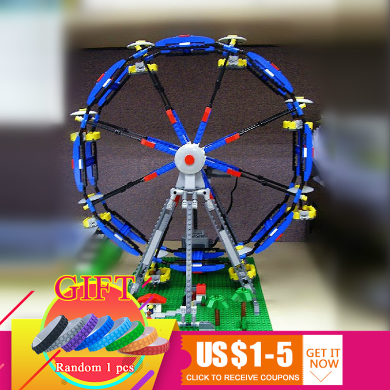 15033 1170Pcs The Three-in-One Electric Ferris Wheel Set Compatible with 4957 Building Blocks toy 15033 1170pcs building classic series the three in one electric ferris wheel set building blocks compatible with 4957 toy lepin