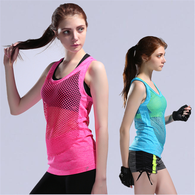 00f0e92312eb83 Women s Sport Tank Tops Quick Dry Breathable Sport Running Sleeveless  Clothes Gym Loose Gym Sport Fitness Vest Solid Tops