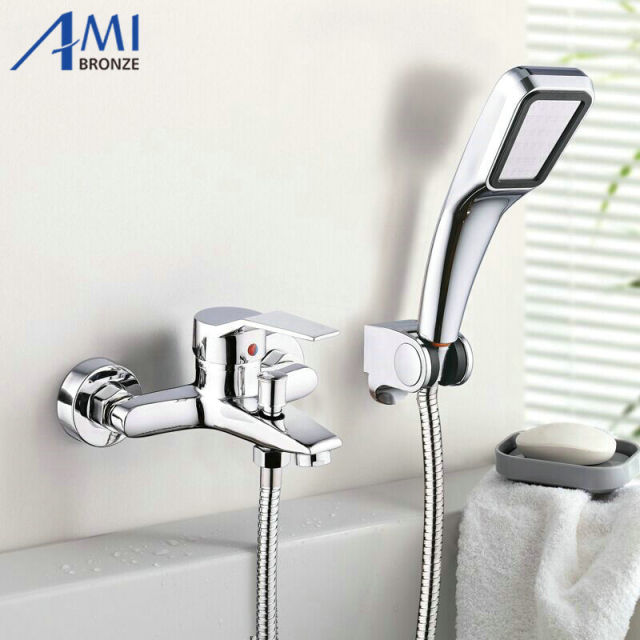 Merveilleux Amibronze Wall Mounted Bathroom Faucet Bath Tub Mixer Tap With Hand Shower  Head Shower Faucet Sets
