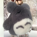 Really rabbit fur bag pendant keychain car accessories Japanese cartoon rabbit chinchillas key pendant