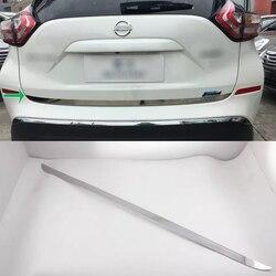 Akcesoria samochodowe zewnętrzne dekoracji ze stali nierdzewnej tylne drzwi odlewnictwo pokrywa tapicerka dla Nissan Murano 2015 samochodów stylizacji w Chromowane wykończenia od Samochody i motocykle na