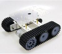 RC металла робот танк Шасси Мини TP100 гусеничный Caterpillar гусеничная машина с Пластик трек для Arduino diy образования Комплект