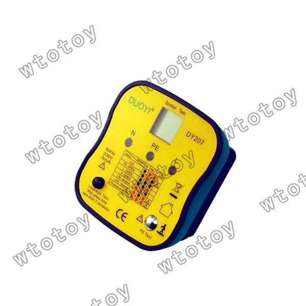 DY207 RCD ECLB Socket Tester Plug (EU) Europe Version 13048