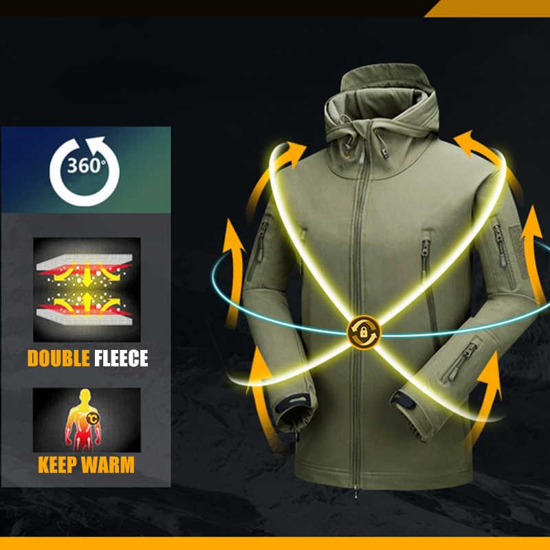 CQB アウトドアスポーツキャンプハイキング戦術的な軍事男性のソフトシェルジャケット男性フリースクライミング服防風狩猟コート