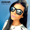 Kdeam New Velvet Sunglasses Women Retro Coating Sun Glasses Mirror Oculos De Sol Lunette Femme With Original Box UV400 KD4187X