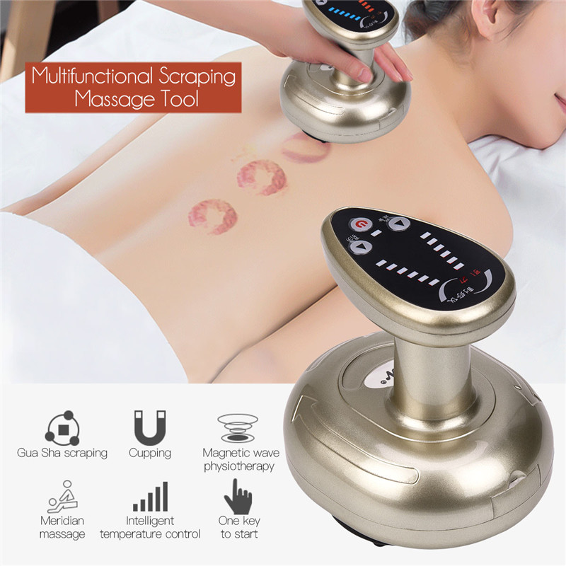 Electric Cupping Stimulate Acupoint Detoxification Massager Guasha Scraping Heat Massage Negative Pressure Acupuncture Therapy 0