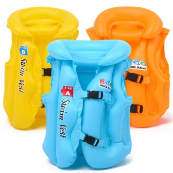 Childrens Inflable Swimsuit Buoyancy Baby Floating Inflatable Foldable Life Jacket Swimming Suit