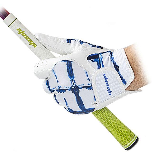 כפפות גולף גברים של Cabretta עור שמאל יד רך לנשימה חיצוני ספורט כפפת משלוח חינם